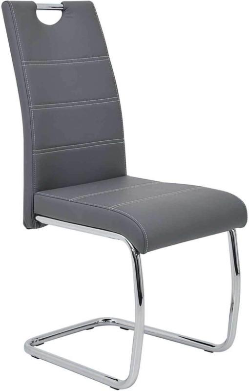 Chaise Flora structure métallique chrome - 2 pièces