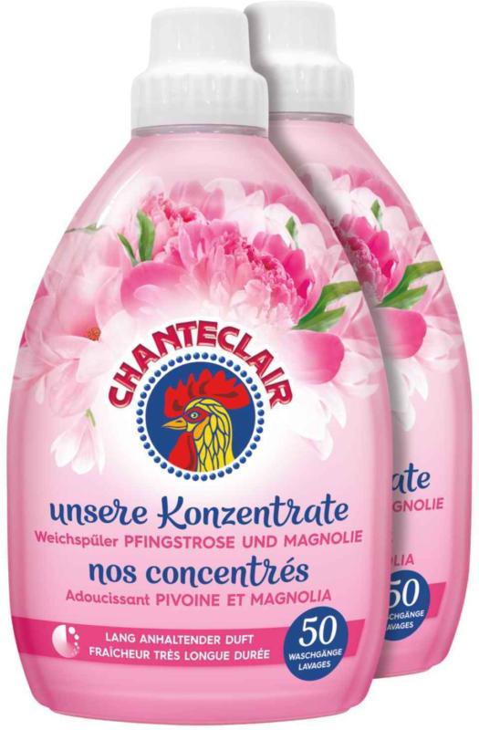 Chanteclair adoucisseur pivoines/magnolia 2 x 50 lavages -