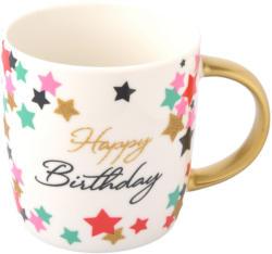 Tasse mit Happy Birthday-Schriftzug