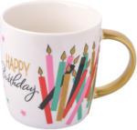 Ernsting's family Tasse mit Happy Birthday-Schriftzug