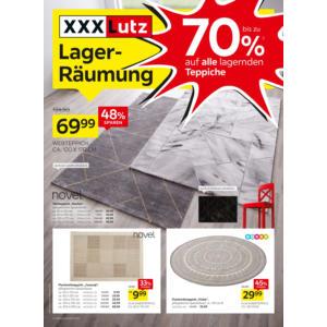 Lagerräumung Teppiche Prospekt