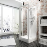 OBI Schulte Duschkabine Juist mit Schiebetür Weiß 210 cm x 80 cm