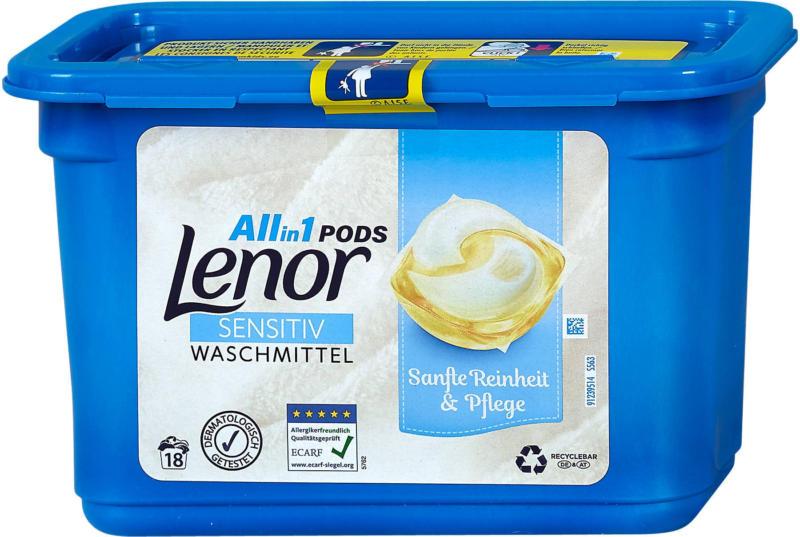 Lenor All-in-1 Pods Waschmittel Sensitiv