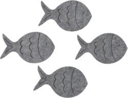 4 Filzuntersetzer in Fischform