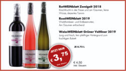 Weiss-, Rosé- oder RotWEINblatt