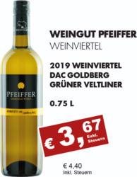 2019 Weinviertel DAC Goldberg Grüner Veltliner