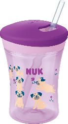 Nuk Flasche Evolution Action Cup, ab 12 Monate, Girl