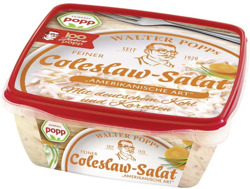Popp Gurkensalat oder Coleslaw Salat und weitere Sorten, jede 400-g-Packung