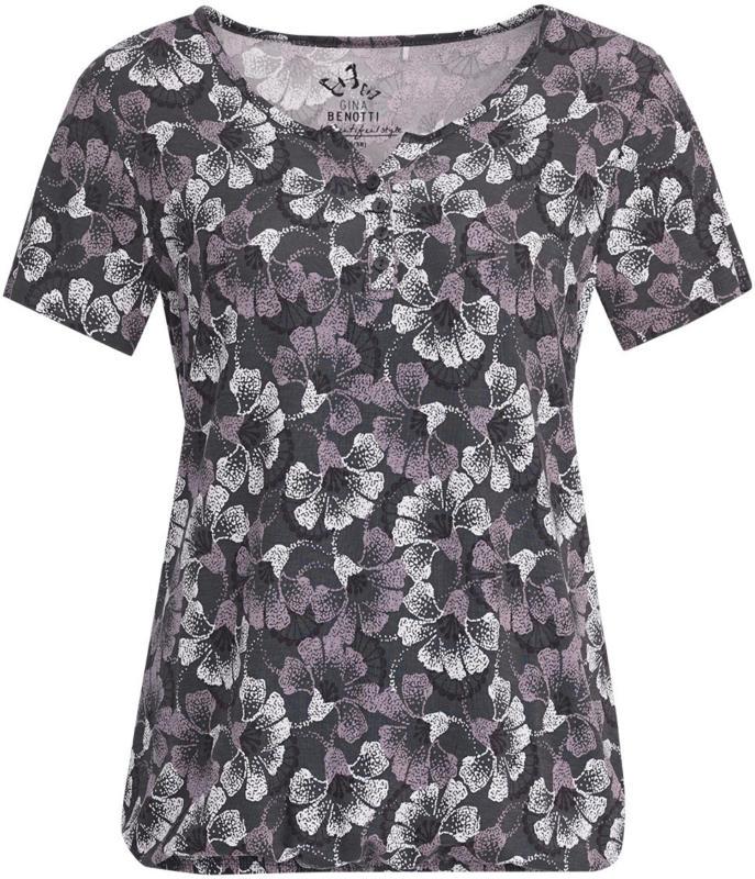 Damen T-Shirt mit floralem Allover-Dessin (Nur online)