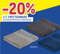 -20% auf Frottierware