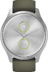 Hybrid Smartwatch Vivomove Style mit analogen Zeigern, silber/moosgrün (010-02240-01)