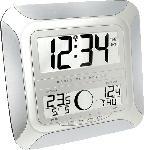 MediaMarkt TECHNOLINE Technoline WS 8118 - Funk Wand-/Tischuhr mit Mondphasenanzeige und Außensensor Funkuhr
