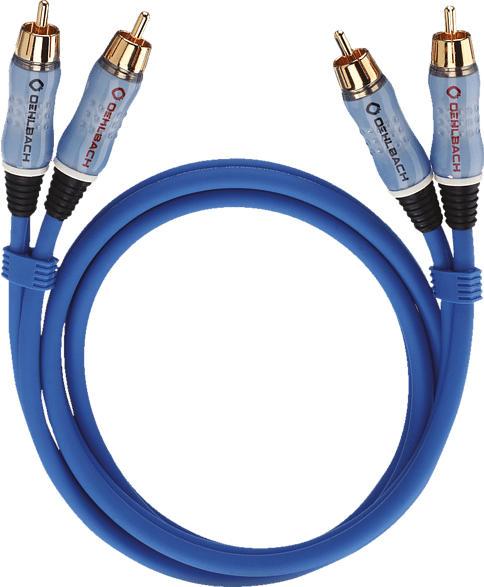 OEHLBACH NF Audio-Cinchkabel Trendiges Cinchkabel zur optimalen Übertragung analoger Audiosignale Kabel, Blau