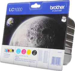 BROTHER LC-1000 Tintenpatrone Value Pack mehrfarbig (LC-1000VALBPDR)