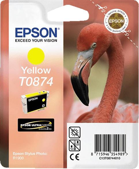 EPSON Original Tintenpatrone Flamingo Gelb (C13T08744010)