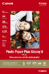 CANON PP-201 Fotopapier 297 x 210 mm  A4 20 Blatt