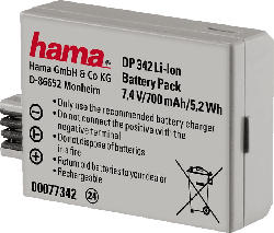 """""""HAMA """"""""DP 342"""""""" für Canon LP-E5 Akku Canon , Li-Ion, 7.4 Volt, 700 mAh"""""""
