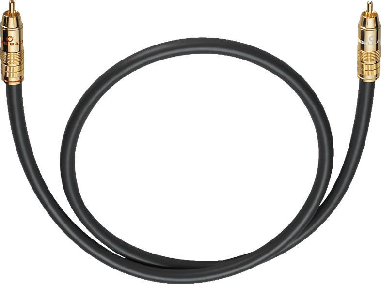 OEHLBACH Subwoofer Cinch-Kabel NF 214 Subwooferkabel 6,0m Subwooferkabel, Anthrazit