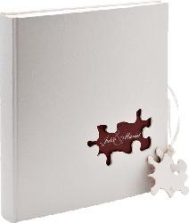 WALTHER UH-173 Puzzle Fotoalbum , 60 Seiten , Leineneinband mit Blindprägung , Weiß