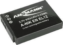 ANSMANN 5044483 A-NIK ENEL-12 Akku  , Li-Ion, 3.7 Volt, 900 mAh