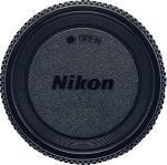 Media Markt NIKON BF-1B Kameragehäusedeckel, Kann am Kameragehäuse befestigt werden, wenn kein Objektiv angesetzt ist, um die Kamera vor Staub und Feuchtigkeit zu schützen., Schwarz