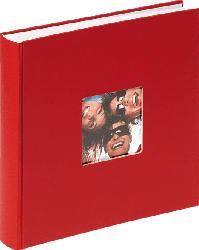 WALTHER FA-208-R Fun Fotoalbum , 100 Seiten , Papiereinband , Rot