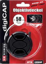 S+M 9860/58 DigiCAP LC E 58 Objektivdeckel, Schutzdeckel, Schwarz