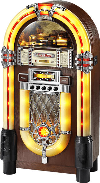 THOMSON JB 6604 Jukebox (UKW, MW, Braun)