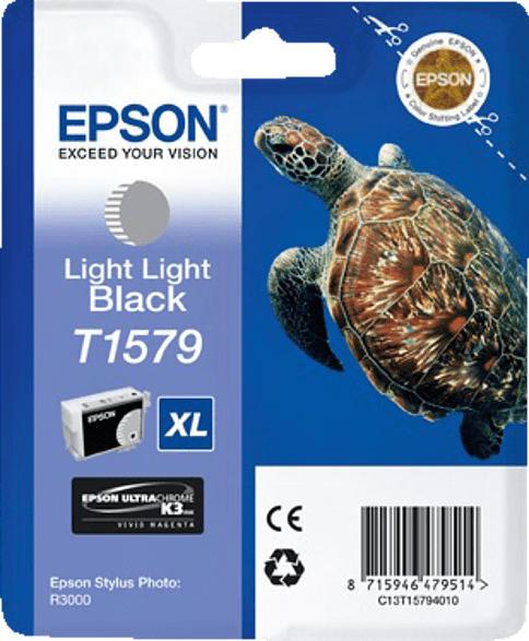 EPSON Original Tintenpatrone Schildkröte Light Light Schwarz (C13T15794010)