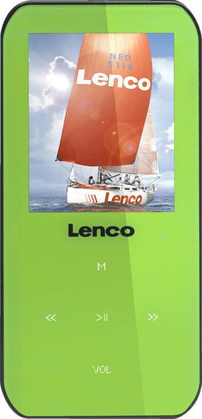 LENCO Xemio 655 Mp4-Player (4 GB, Grün)