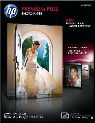 HP CR 676 A Premium Plus Fotopapier glänzend  Einzelblattpapier 13 x 18 cm   20x Blatt im Format 13 x 18 cm