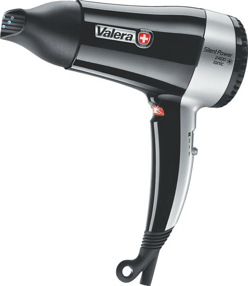 VALERA 545.14 Silent Power 2400 Ionic Haartrockner Schwarz/Silber (2400 Watt)