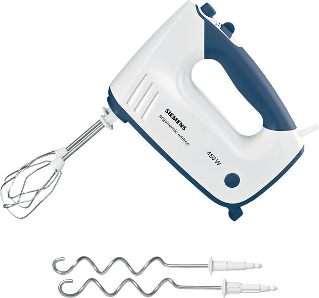 SIEMENS MQ96400 Handmixer Weiß/Blau (450 Watt)