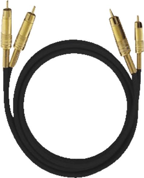 OEHLBACH 2028 NF 1 Set 1x 0.5 m Cinch-Kabel, Schwarz