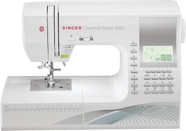 SINGER 9960 QUANTUM  Freiarm-Nähmaschine ([50 Watt, Ruck-Zuck-Knopfloch)