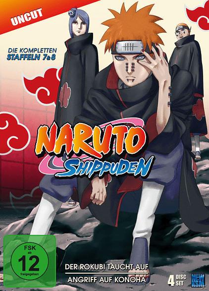 Naruto Shippuden - Staffel 7 & 8 - Der Rokubi taucht auf & Angriff auf Konoha (Folge 364-395) [DVD]