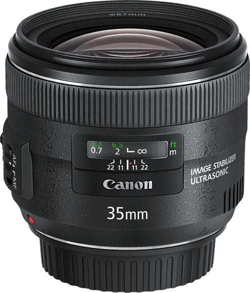 CANON EF 35mm f/2 IS USM 35 mm f/2 IS, USM (Objektiv für Canon EF-Mount, Schwarz)