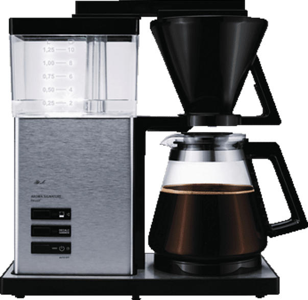 MELITTA 100702 Aroma Signature DeLuxe Filterkaffeemaschine  Schwarz/Edelstahl