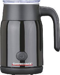 GASTROBACK 42326 Latte Magic Milchaufschäumer, Schwarz, 500 Watt, 350 ml