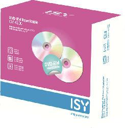 ISY IDV-4100 DVD-RW 5er Pack Slim Case DVD-RW
