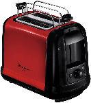 MediaMarkt MOULINEX LT 261 D Toaster Metallic/Rot/Schwarz (850 Watt, Schlitze: 2)