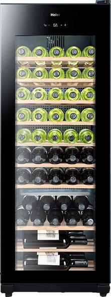 HAIER WS50GA Weinklimaschrank (146 kWh/Jahr, EEK A, Schwarz)