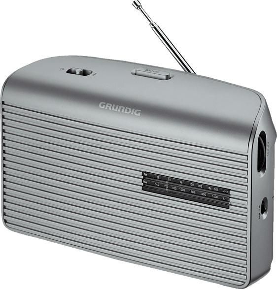 GRUNDIG Music 60 Radio (UKW, MW, Silber)