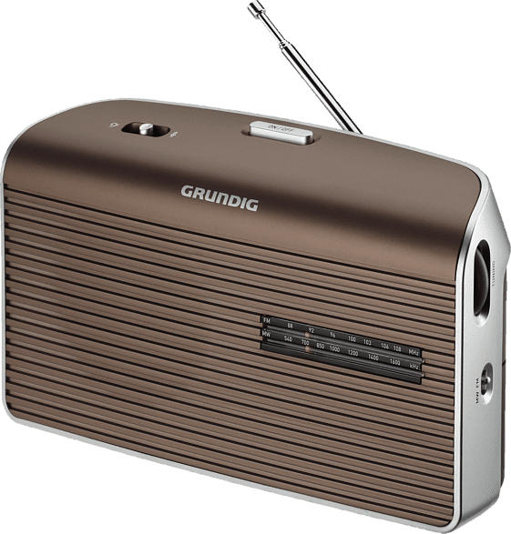 GRUNDIG Music 60 Radio (UKW, MW, Braun/Silber)