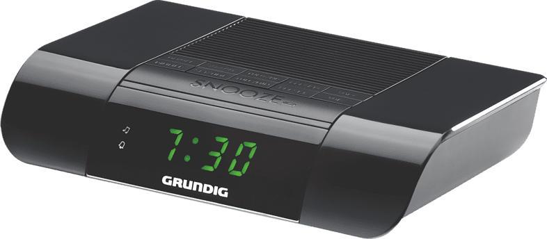 GRUNDIG KSC 35 Radio-Uhr (PLL Tuner, UKW, Schwarz)