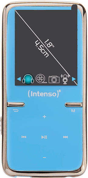 INTENSO 3717464 Video Scooter Audio/Video Player (8 GB, Blau)