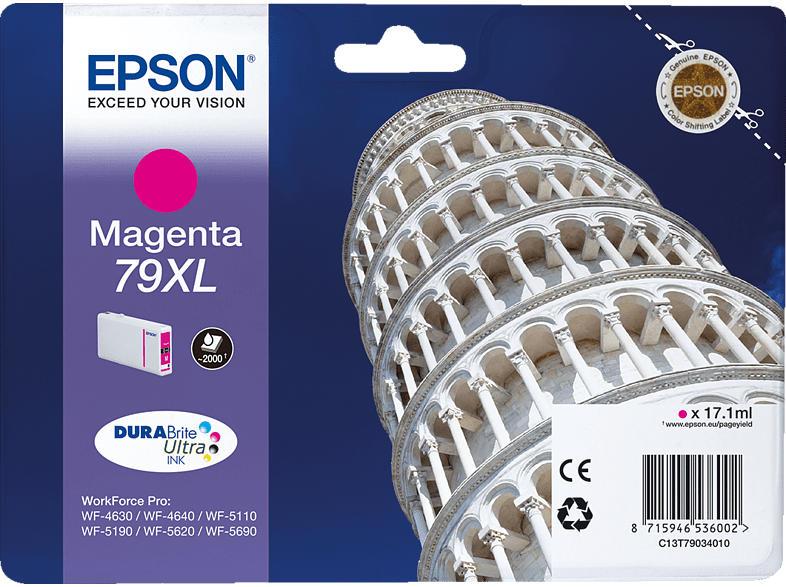 EPSON Original Tintenpatrone Turm von Pisa Magenta (C13T79034010)
