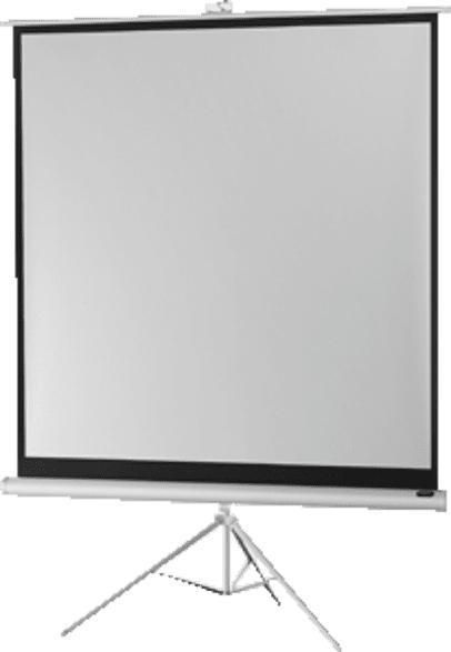 CELEXON 1090263 Stativleinwand Economy White 133 x 100 cm Stativleinwand