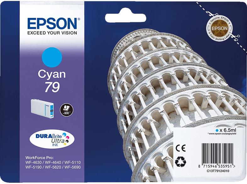 EPSON Original Tintenpatrone Turm von Pisa Cyan (C13T79124010)