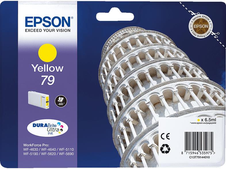 EPSON Original Tintenpatrone Turm von Pisa Gelb (C13T79144010)